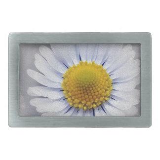 shining white daisy belt buckle