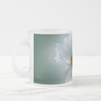 shining white frosted glass coffee mug