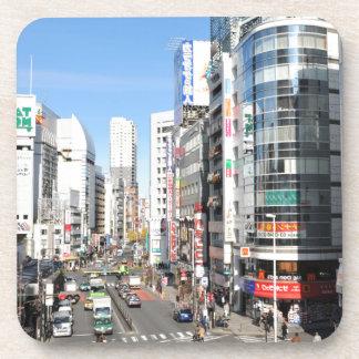 Shinjuku district in Tokyo, Japan Beverage Coaster