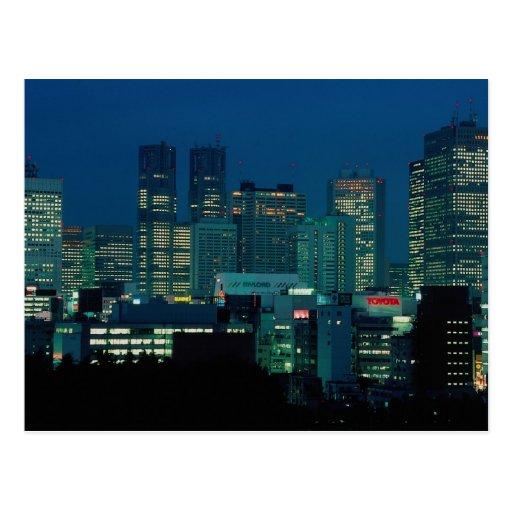 Shinjuku skyline at dusk, Tokyo, Japan Postcard