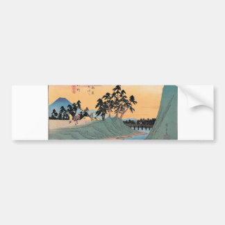Shinmachi, Japan. Mt. Fuji background. Bumper Stickers
