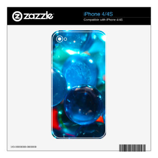 Shinning blue glass beads decals for the iPhone 4S