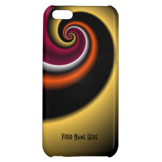 Shinny Spiral Personalized iPhone 5C Case