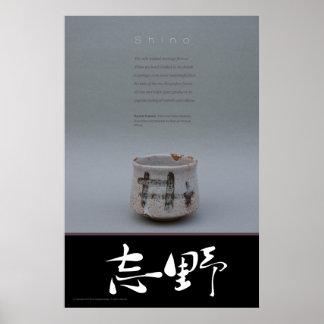 shino pottery poster