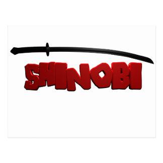 Shinobi Black Postcard
