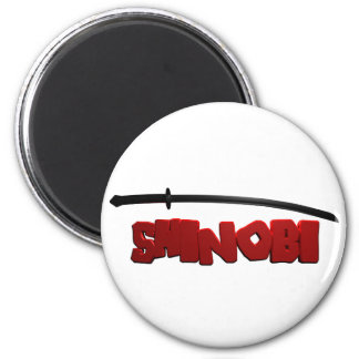 Shinobi Black Refrigerator Magnets