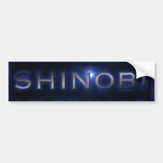 Shinobi Blue Sun Burst Bumper Sticker