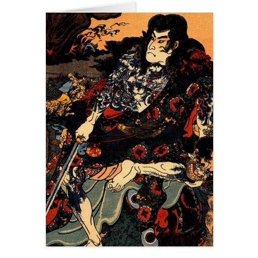 Shinsh de Kuniyoshi Japón Kyumonryu Felicitación