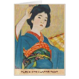 Shinsui Ito Maiko japanese vintage geisha portrait Cards