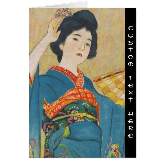 Shinsui Ito Maiko japanese vintage geisha portrait Card