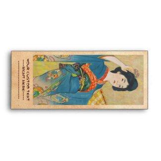 Shinsui Ito Maiko japanese vintage geisha portrait Envelope
