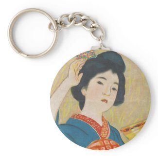 Shinsui Ito Maiko japanese vintage geisha portrait Key Chain