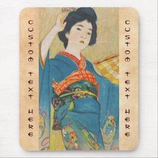 Shinsui Ito Maiko japanese vintage geisha portrait Mouse Pads
