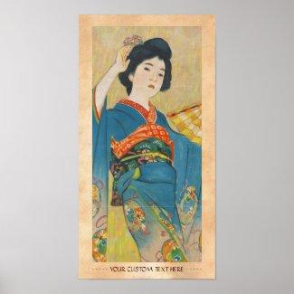 Shinsui Ito Maiko japanese vintage geisha portrait Posters