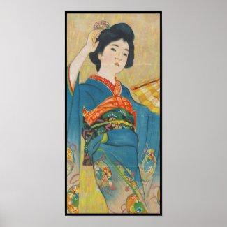 Shinsui Ito Maiko japanese vintage geisha portrait Print