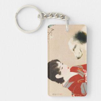 Shinsui Ito Shufu No Tomo Pet Dog japanese lady Keychain