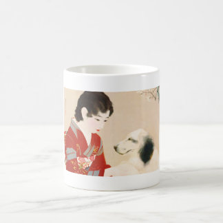 Shinsui Ito Shufu No Tomo Pet Dog japanese lady Classic White Coffee Mug