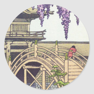 Shinto and its Architecture, Kameido Bridge Kawase Classic Round Sticker