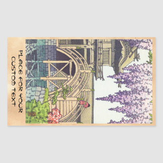 Shinto and its Architecture, Kameido Bridge Kawase Rectangular Sticker