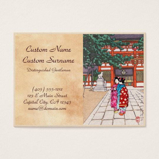 Shinto and its Architecture, Yasaka Shrine Kyoto Business Card
