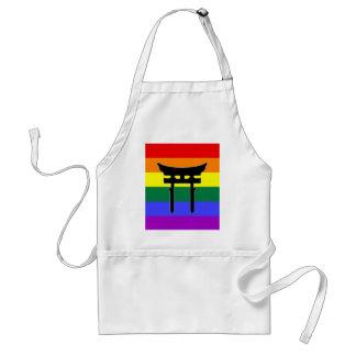 Shinto Gay Pride Flag Adult Apron