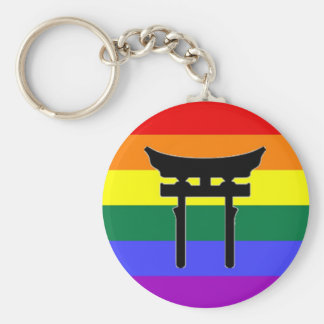 Shinto Gay Pride Flag Keychains
