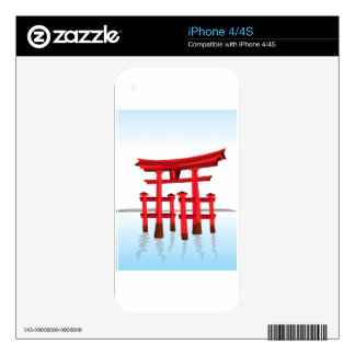 Shinto Japanese Gate Architecture Building Culture Decal For The iPhone 4