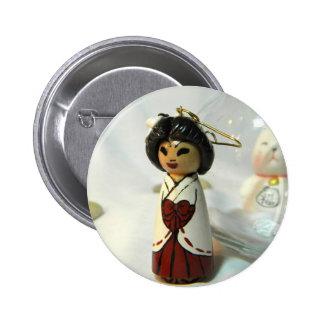 Shinto Priestess I Button