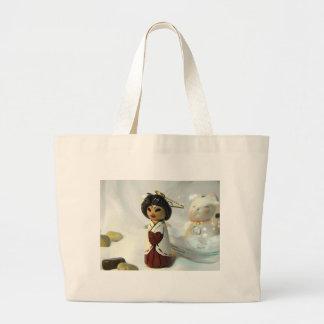 Shinto Priestess I Large Tote Bag