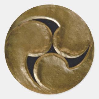 Shinto symbol classic round sticker