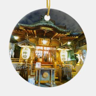 Shinto temple in Tokyo, Japan Ceramic Ornament