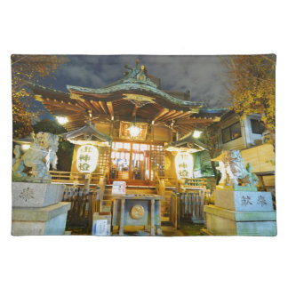 Shinto temple in Tokyo, Japan Placemat