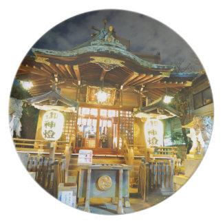 Shinto temple in Tokyo, Japan Plate