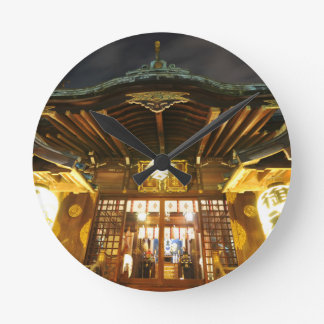 Shinto temple in Tokyo, Japan Round Clock