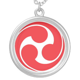 Shinto Tomoe Round Pendant Necklace