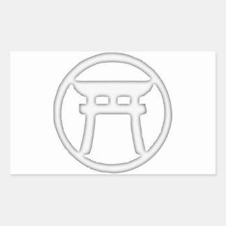 Shinto Torii Rectangular Sticker