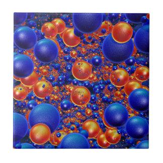Shiny 3D balls Ceramic Tile