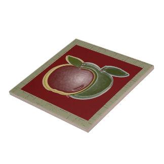 Shiny Apples 3D (sage/cranberry) Tiles