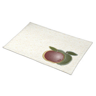 Shiny Apples (white speck) Placemat Cloth Place Mat