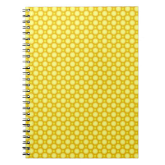 Shiny beads - yellow notebook