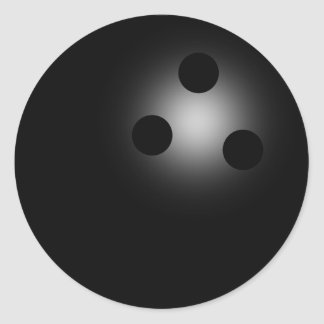 Shiny Black Bowling Ball Bowlers Envelope Seals