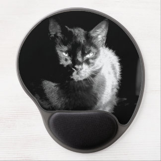 Shiny Black Cat Gel Mouse Pad