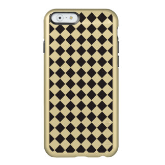 Shiny Black Gold Metallic Diamond Geometric Design Incipio Feather® Shine iPhone 6 Case