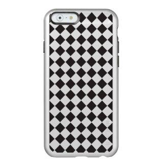 Shiny Black Silver Metallic Diamond Geometric Incipio Feather® Shine iPhone 6 Case