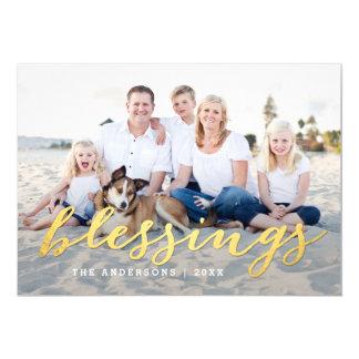 """Shiny Blessings Holiday Photo Card 5"""" X 7"""" Invitation Card"""