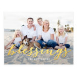 Shiny Blessings Holiday Photo Card Postcard