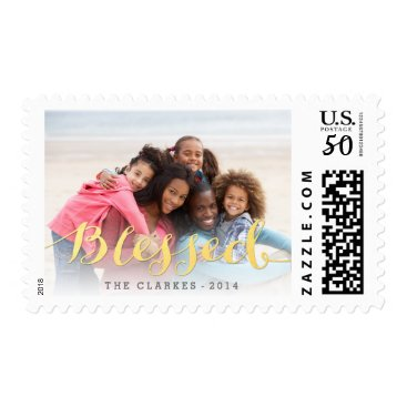 epclarke Shiny Blessings | Holiday Photo Greeting Postage