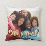 Shiny Blessings | Holiday Photo Throw Pillow