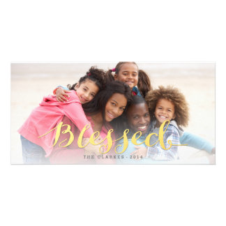 Shiny Blessings | Modern Holiday Photo Card