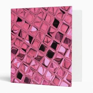 Shiny Bling Metallic Pink Diamonds 3 Ring Binders